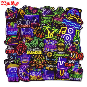 50 Pcs Cool Neon Stickers for Kids Toys Bicycle Phone Suitcase Guitar Bumper Skateboard Backpack JDM Graffiti Waterproof Sticker(China)