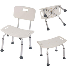 White Aluminium Alloy hospital shower chair antiskidding chair  Elderly Bath Chair with/without Back of a Chair US Shipping machinability study of aluminium silicon alloy