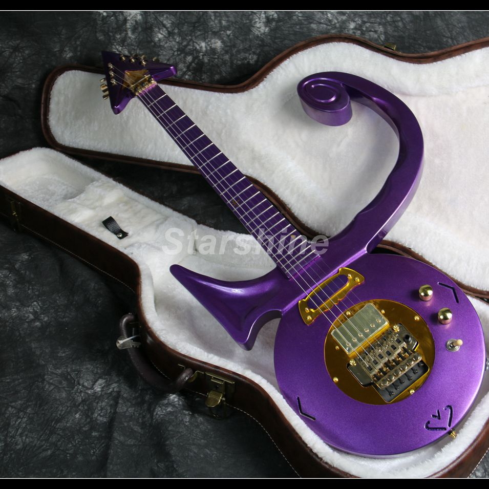 2019 New Purple Prince Electric Guitar X-SX7 Noble Style Gold Hardware CNC Made FR Bridge