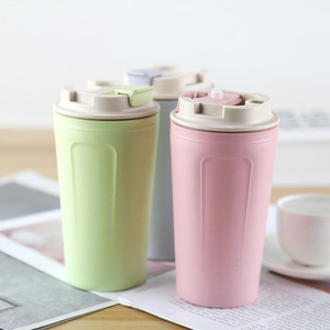 420ml High Quality Bamboo Fiber Coffee Mug Leak-Proof Travel Cup With Lid BPA Free(China)