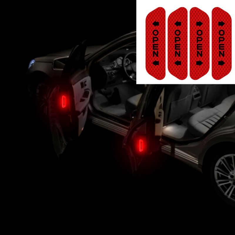 4Pcs רכב דלת בטיחות אזהרת סימן מדבקות לפתוח עבור BMW 1 2 3 4 5 6 7 סדרה x1 X3 X4 X5 X6 E60 E90 F07 F09 F10 F15