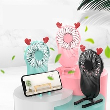 Cooling Fans Air-Cooler Electric Small Handheld Rechargable Cute Travel Outdoor Home