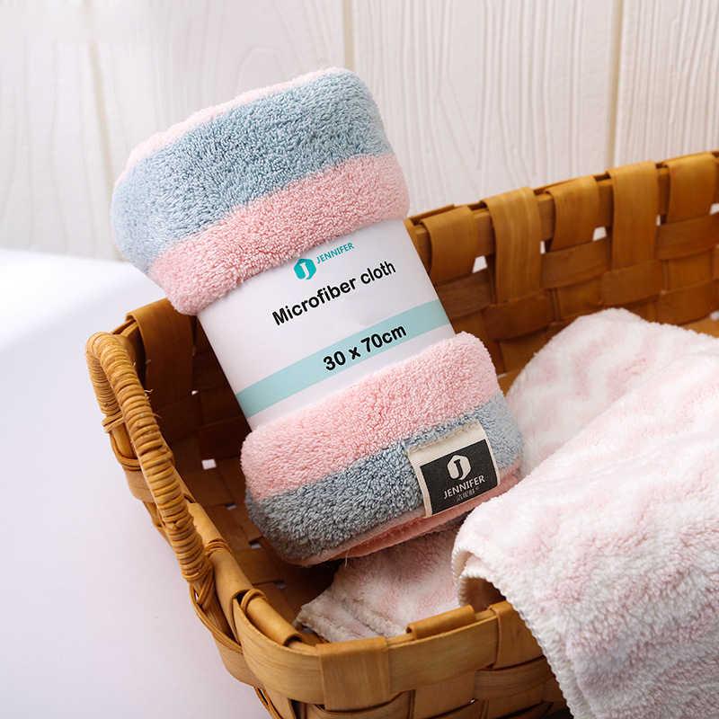 GIANTEX şerit mikrofiber yüz havlusu süper emici banyo havlu yetişkinler için 30x70cm toallas peçete recznik handdoeken