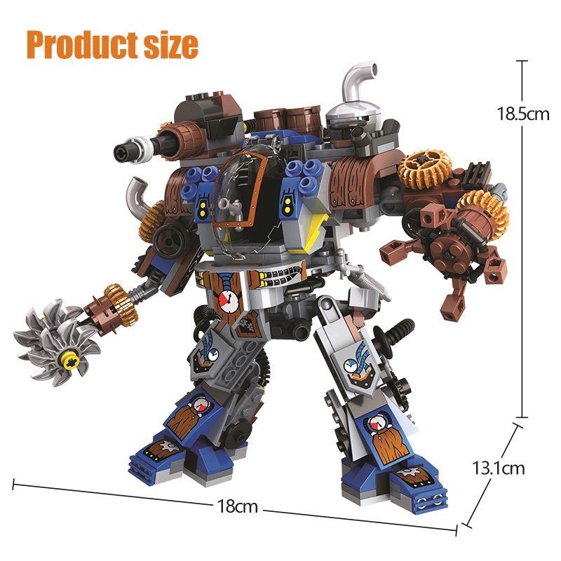 Winner Age Of Steam Series Military Mechanical Titan Robots Figures Building Blocks