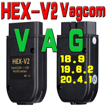 2020 Electric Testers HEX V2 Interface OBD COM 20.4.2 Vag COM 20.4.1 FOR VW AUDI Skoda Seat VAG 20.4.2 OBD2 vag k can commander 1 4 obd2 diagnostic interface cable for audi vw vag commander 1 4 with
