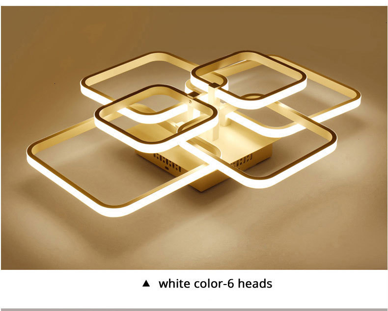 H7b46f1d5018640f7abd8167c3518ef2fz Acylic Ceiling Lights Square Rings For Living Room Bedroom Home AC85-265V Modern Led Ceiling Lamp Fixtures lustre plafonnier