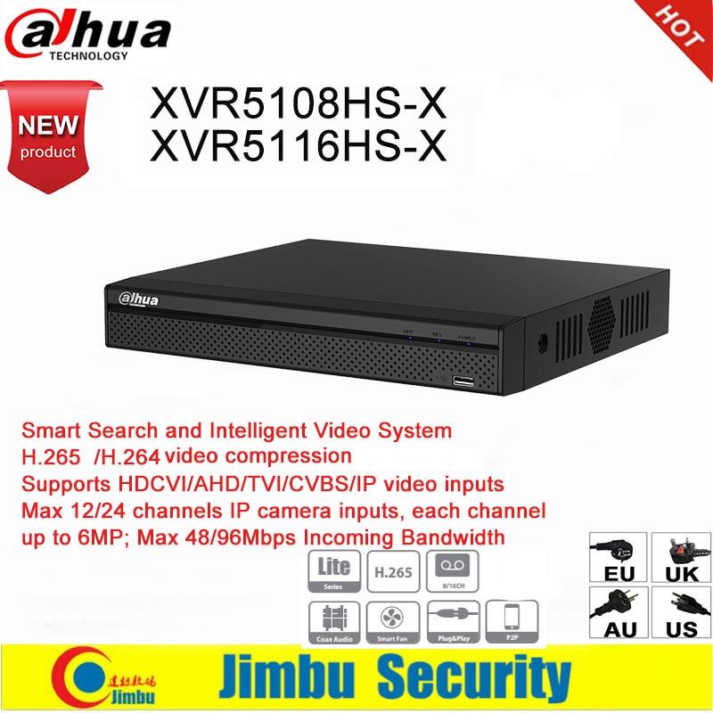 Dahua XVR XVR5108HS-X XVR5116HS-X 8ch 16ch Up To 6MP  H.265 H.264 Smart Search  Penta-brid 1080P IVS Digital Video Recorder DVR