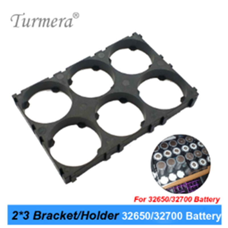 Turmera 32650 32700 2*3 suporte da bateria suporte de segurança celular anti vibração suportes de plástico para 32650 32700 bateria uso oct1