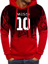Messi Mannen Gradiënt Hoodie Mannen Messi 10 Print Sportwear Mannen Hoodies Sweatshirts Jas Slim Fit Hoody Harajuku Hooded Trainingspak Z(China)