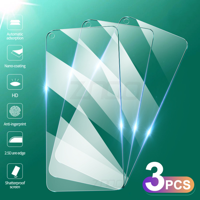 3Pcs Tempered Glass For Huawei Honor 30 30S 20 Pro Screen Protector For Huawei Honor View 30 Pro 10i 20s Lite Protective Glass 1