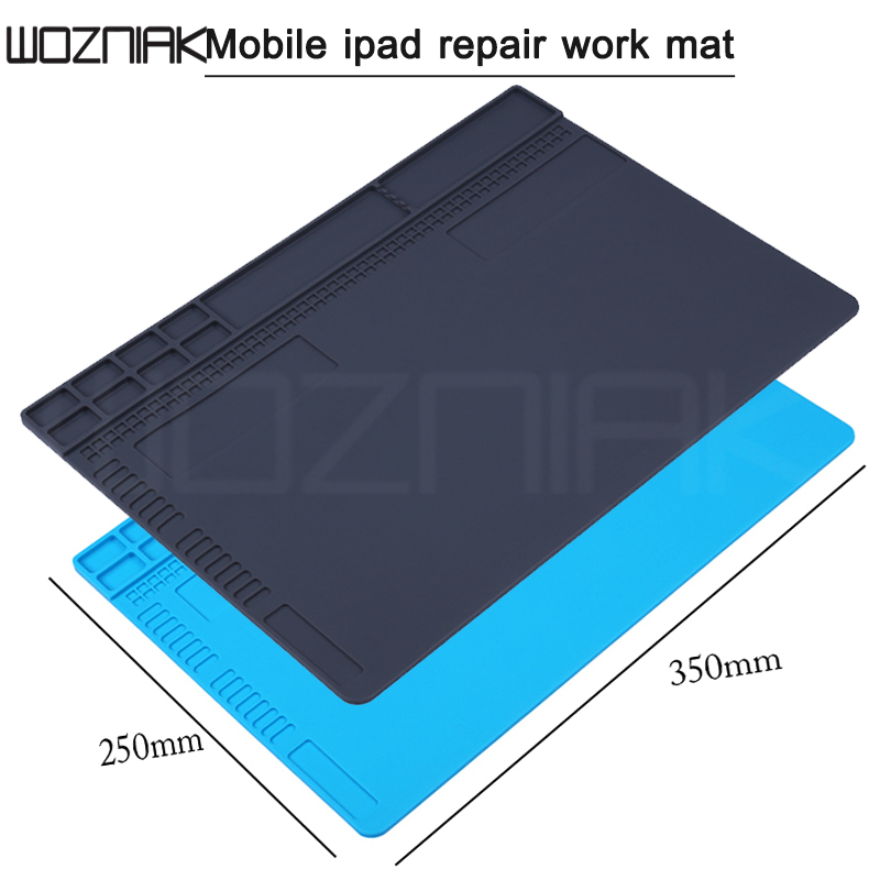 350X250mm Heat Insulation Repair Pad Soldering Work Station Mat Work Pad Desk Mat Silicon Welding Soldering Maintenance Platform