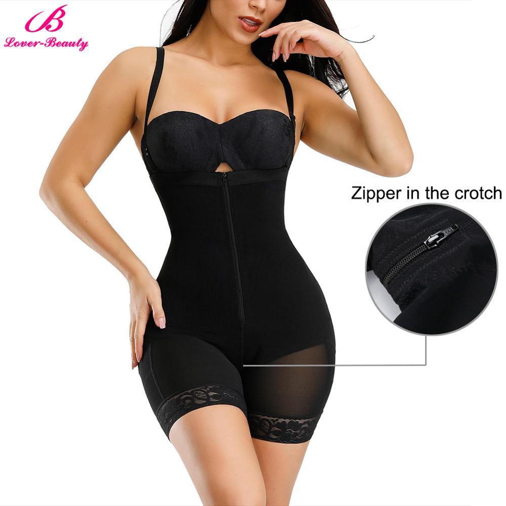 Lover-Beauty Women Slimming Underwear Bodysuit Body Shaper Tummy Control Waist Trainer Postpartum Recovery Butt Lifter Shapewear
