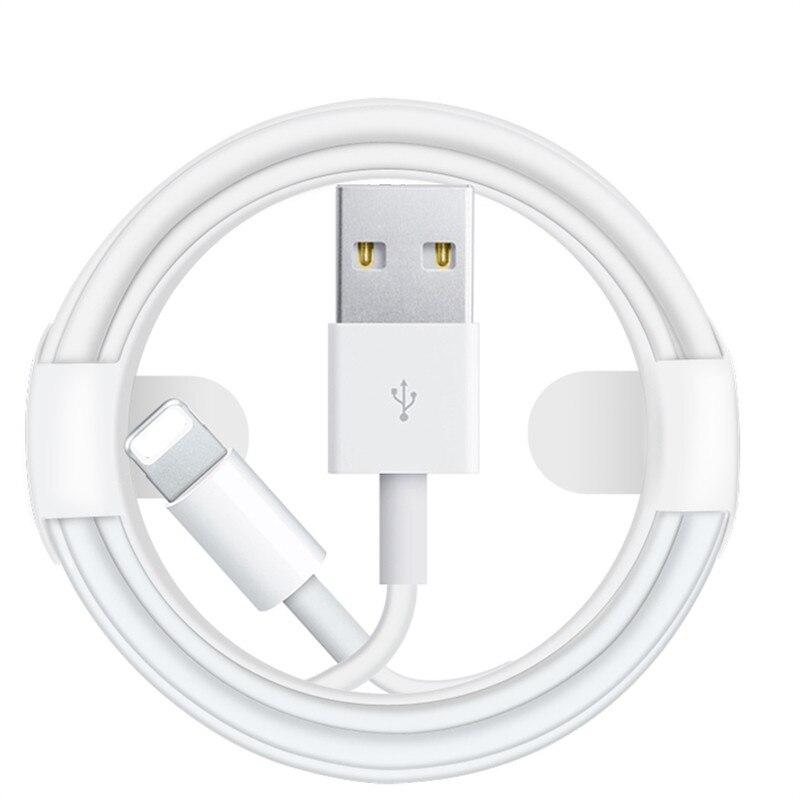 USB-кабель длиной 100 см, 2 м, 3 м для Apple iPhone X 5 5S 5C SE 6 6S 7 8 Plus 11 XR XS Max, устройство для быстрой зарядки и синхронизации данных
