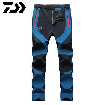 Nowość Daiwa mężczyźni jesienne spodnie sportowe wiatroszczelne Camping wodoodporne spodnie do wędrówek pieszych Camping Trekking spodnie wędkarskie ubrania tanie i dobre opinie LANSHITINA
