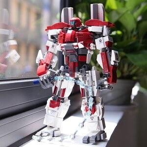 Робот механический серии Guardian Bravo строительные блоки модель Gipsy кирпичи Звездные войны Трансформеры игрушки