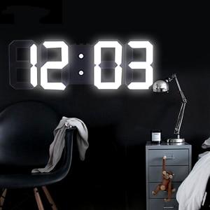 Anpro 3D Large LED Digital Wall Clock Date Time Celsius Nightlight Display Table Desktop Clocks Alarm Clock From Living Room(China)