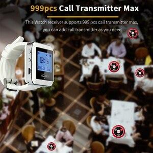 Image 4 - Retekess מסעדת הביפר 3pcs מקלטי שעון + 20pcs T117 שיחת כפתורי שיחת מלצר אלחוטי קורא מערכת מסעדה ציוד