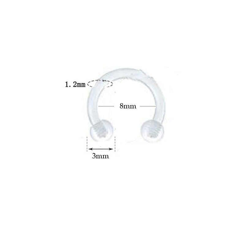 6PCS Steel Segment Rings Piercing Ear Tragus Cartliage Piercings Orelha Helix Lip Labret Tongue Piercing Nose Ear Septum Jewelry