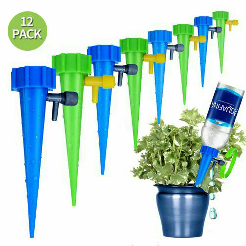 Automatic Watering Spikes Garden Self Waterer Irrigation Drippers Plant Watering Drip System with Adjustable Slow Release Valve