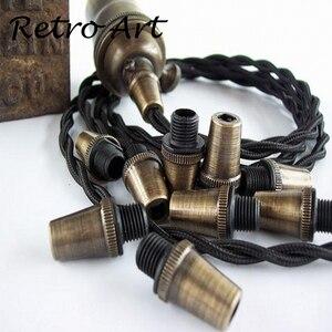 Image 3 - Abrazadera de Cable de lámpara, Cable de metal, alivio de tensión, agarre de Cable roscado