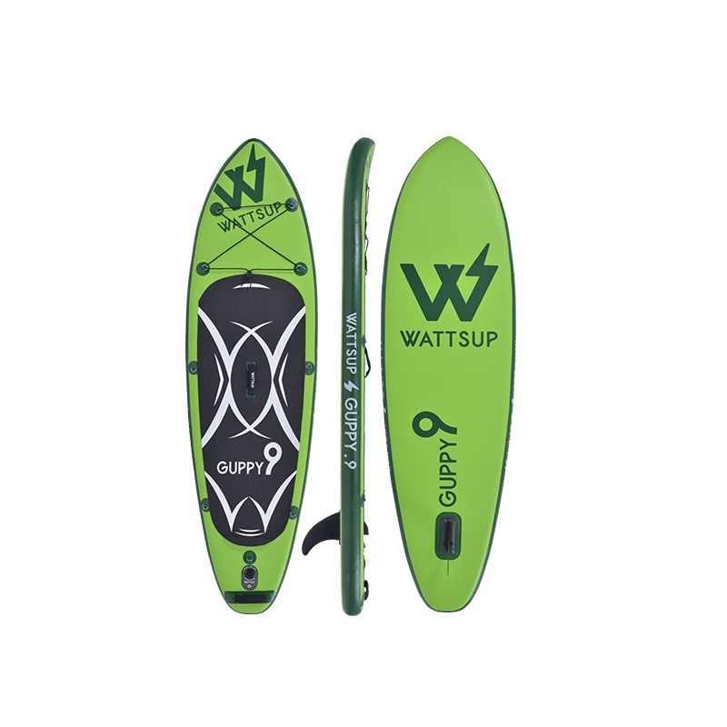 Surfe inflável levante-se a placa de pá do sup isup placa de pá de surf guppy 9 wakeboat bodyboard kayakboat size375 * 76*12cm