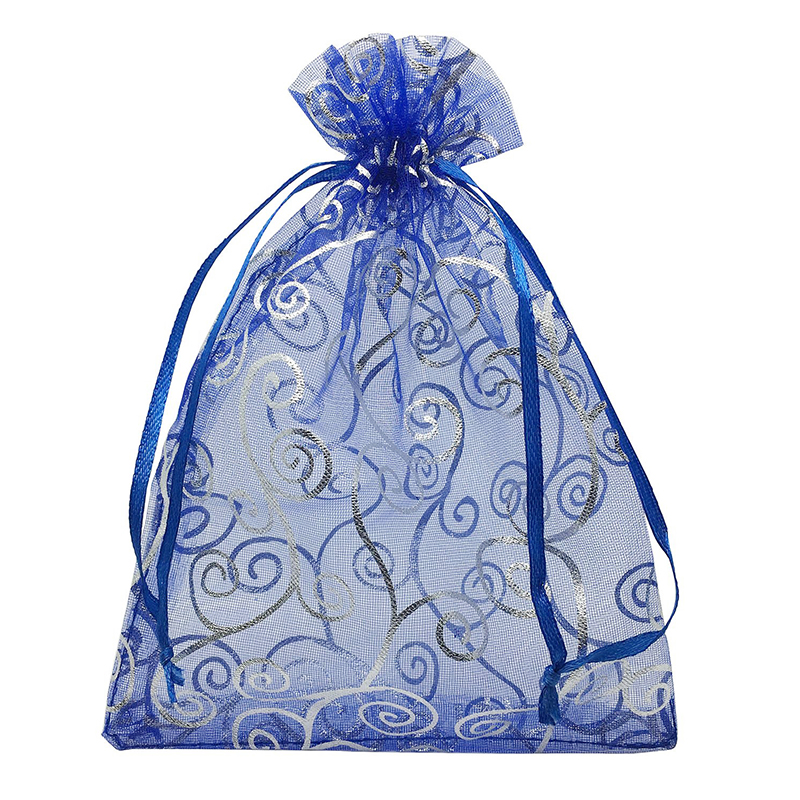 50pcs 5x7 Inches Drawstrings Organza Gift Candy Bags Wedding Favors Bags