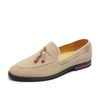 Suede Leather Men Loafer Shoes Fashion Male Boat Shoes Casual Shoes Man Party Wedding Footwear