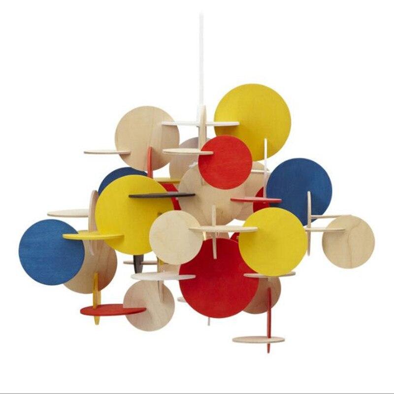 Nordic plastic chandelier lighting DIY multi color chandelier Bedroom Living room Kitchen Kids room Chandelier Hanging Lamp