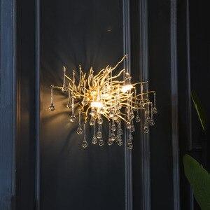Image 2 - G9 קריסטל יוקרה LED קיר אור זהב נורדי טלוויזיה רקע קיר מנורה שליד המיטה השינה מסעדת קיר פמוטים AC90V  260 V