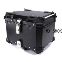 45L/55L/65L Universal Motorcycle Extra Large Storage Space Removable Aluminum Trunk Tail Box Waterproof & Lock Rear Luggage Case