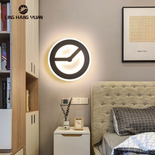 Black Modern Led Wall lamp Acrylic Round&Square Sconce Wall Lamp for Living room Bedroom Bedside Light 12w 15w Wall Led Lustres modern chinese style wood wall lamp wooden acrylic tree shape living room led bedroom bedside wall sconces