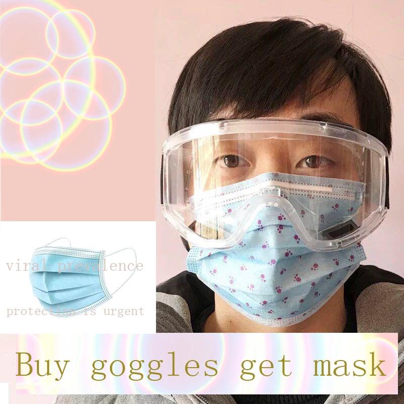 medical anti fog  anti bacterial isolation  wind proof  anti fog  multi function Goggles safty glasses Ski gogglesMens Eyewear Frames