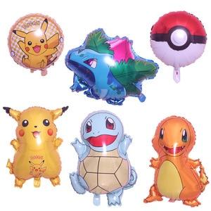 Cartoon Pikachu Pokemon Aluminum Balloon Balloon Inflatable Child Birthday Party Decoration Kids Toys Helium Balloons