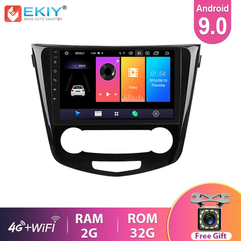 EKIY IPS Android 9.0 Car Radio For Nissan X-Trail Qashqai 2014 - 2017 Navigation GPS Multimedia Video Player Stereo Headunit DVD image