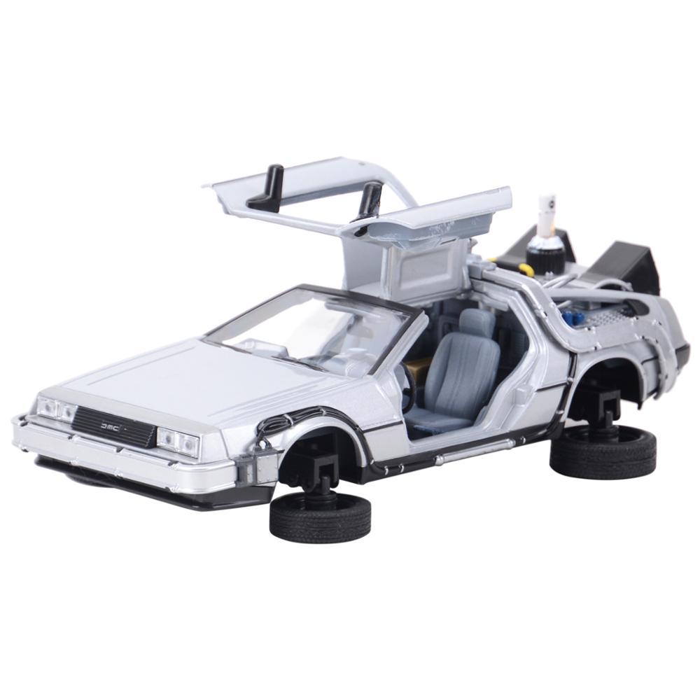 Welly 1:24 DMC-12 DeLorean zaman makinesi geri gelecek araba statik döküm araçları koleksiyon Model oyuncak arabalar