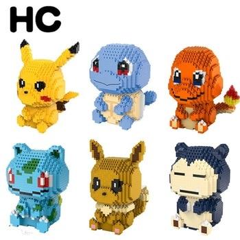DIY Pokemon Mini Building Blocks Toys Bricks Pikachu Charizard  Anime Diamond Doll Pocket Monster Children Gifts Toy 1
