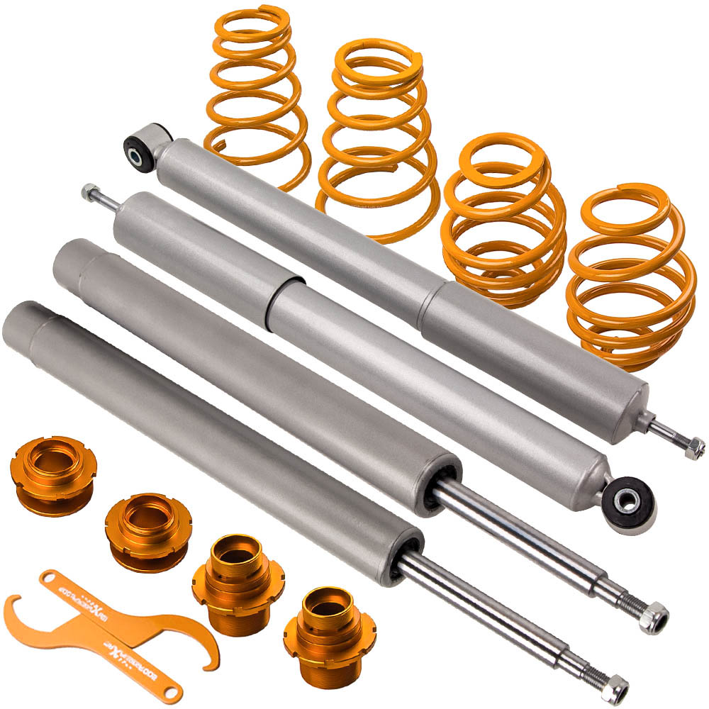 <font><b>Coilovers</b></font> Kit for <font><b>BMW</b></font> <font><b>E30</b></font> Coilover 324D 324TD 323i 320i 325i 320 323 325 Saloon Suspension 51mm front inserts Front Rear Springs image