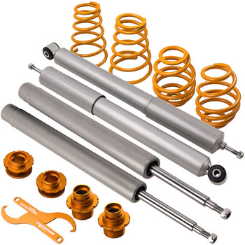 Coilovers Kit for BMW E30 Coilover 324D 324TD 323i 320i 325i 320 323 325 Saloon Suspension 51mm front inserts Front Rear Springs image