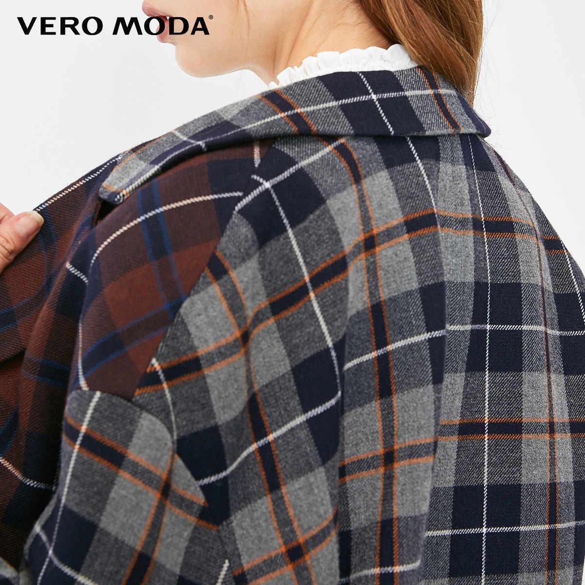 Vero Moda Herfst En Winter Kleur Bijpassende Revers Kraag Check Blazer | 319108516