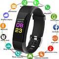 2018 zegarek sportowy na bransolecie kobiety mężczyźni LED wodoodporna smart band tętno krokomierz z ciśnieniomierzem zegar do android ios