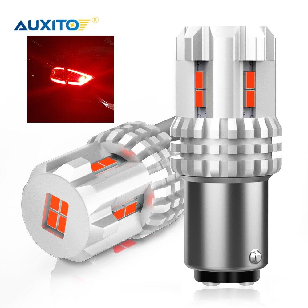2 шт. 1157 P21 5 Вт BAY15D светодиодная CAN-шина P21/5 Вт Стоп светодиодный ная Автомобильная 1157 красная лампа сигнала для тормоза DRL лампа задний фонарь ...