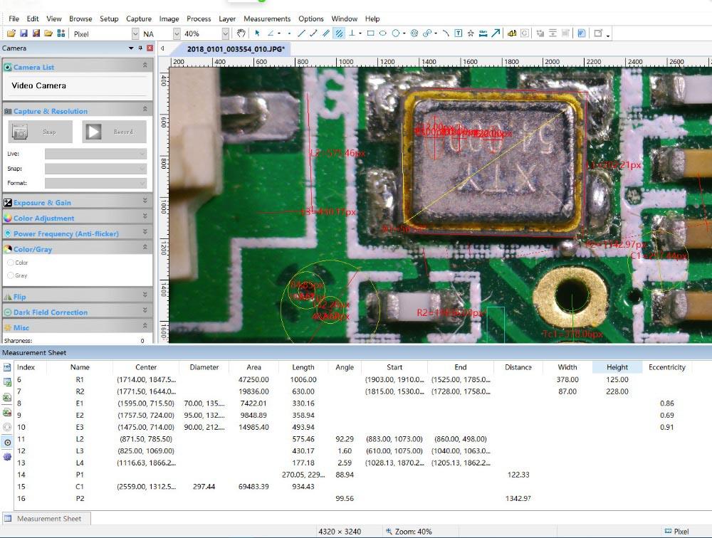 DANIU 41MP 2K 1080P 60FPS HD Industriële Elektronische Digitale Solderen Camera Microscoop Vergrootglas USB2.0 met Stand voor Het Repareren - 4