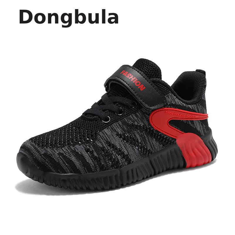 Children's Shoes Children Men's Breathable Net Shoes Running Sneakers School Breathable Knitted Shoes Tennis Sports Baby Shoes