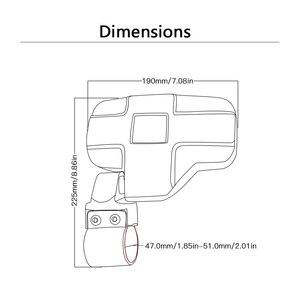 """Image 5 - Utv espelho retrovisor espelho lateral com 1.75 """"/2"""" barra de rolo gaiola apto para polaris ranger e rzr 4 e xp 4 barras transversais superiores 2"""""""
