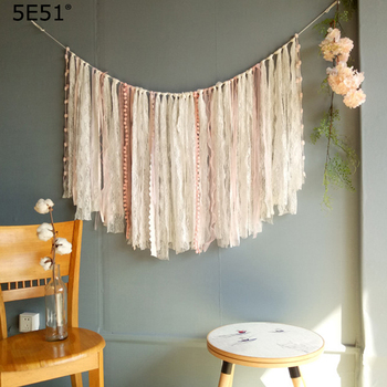 One piece handmade lace tassels wall decoration  home decoration 1.2mX80cm