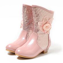 Зимние сапоги до колена для девочек зимняя обувь на высоком