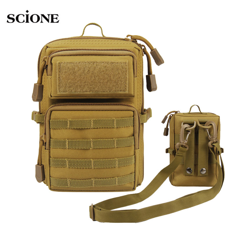 Military MOLLE System Bags Tactical Bag Mobile Phone Pouch Army Outdoor Sport Multi-function 1000D Nylon Bag Fanny Pack  XA106A