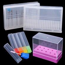 Акриловая коробка для хранения сверл для ногтей, пустая подставка, демонстрационный контейнер, чехол для ногтей, резак для фрезерного станка, маникюрные аксессуары BE867