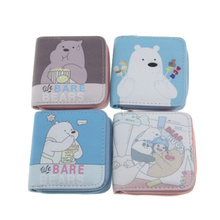 New Cute Cartoon Printed Small Wallets for Women Mini Zipper Purses Female Short Wallet Girls Lovely Coin Pruses Card Holers
