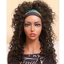 Wigs Gluesless Headband-Wigs Human-Hair Peruvian Simbeauty for Black Women 180-Density/short